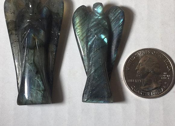Labradorite Gemstone Angel Figure