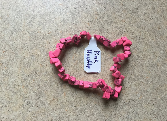 Pink Howlite Gemstone Bracelet