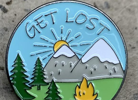 Get lost enamel pin
