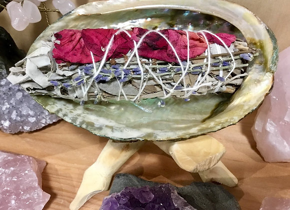Lavender Rose White Sage Smudge Stick