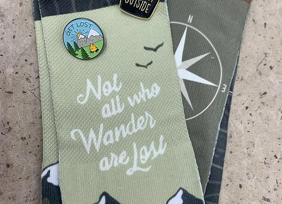 Not all who wander socks
