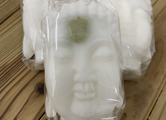 Buddha head with jade soap