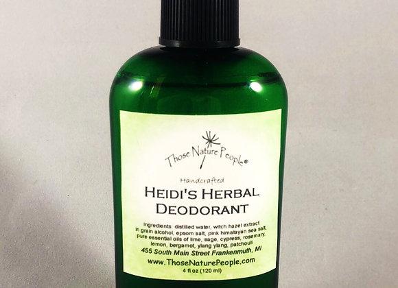 Heidi's Herbal Deodorant Spray