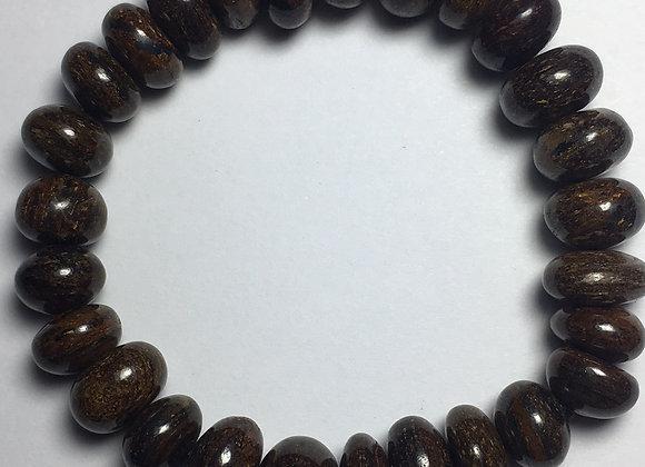 Bronzite Gemstone Bracelet - Large Bead