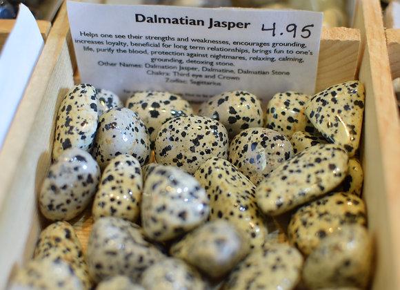 Dalmatian Jasper Tumbled