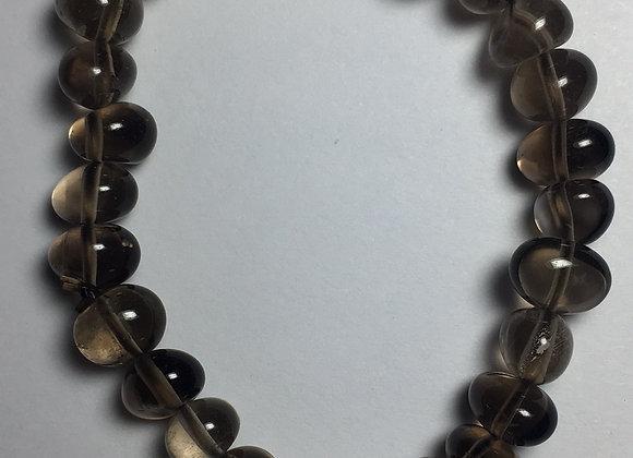 Smoky Quartz Gemstone Bracelet - Large Bead
