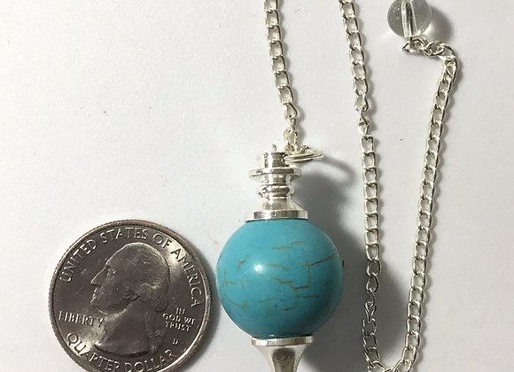 Turquoise Howlite Sphere Pendulum