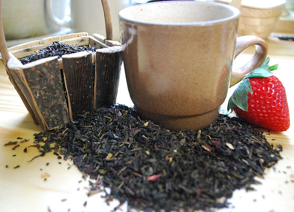 Strawberry Fields Green Tea (Loose Leaf)