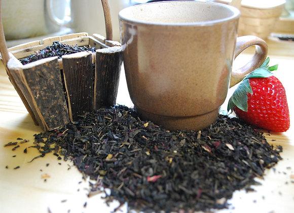 Strawberry Fields Green Tea (Loose Leaf)