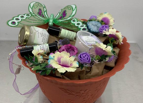 Spring Flower Pot Basket