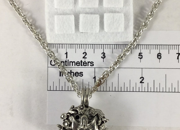Angel Pewter Essential Oil Diffuser Necklace