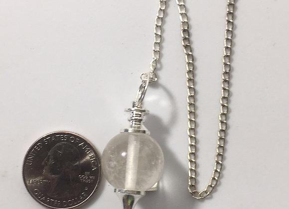 Clear Quartz Sphere Pendulum