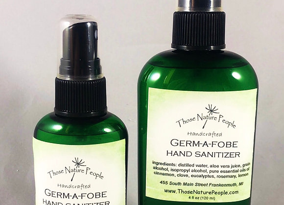 Germ-a-fobe Natural Hand Sanitizer