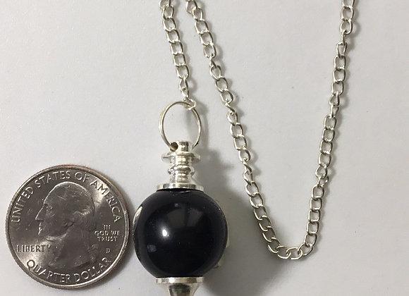 Black Agate Sphere Pendulum