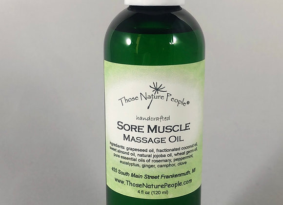 Sore Muscle Massage Oil