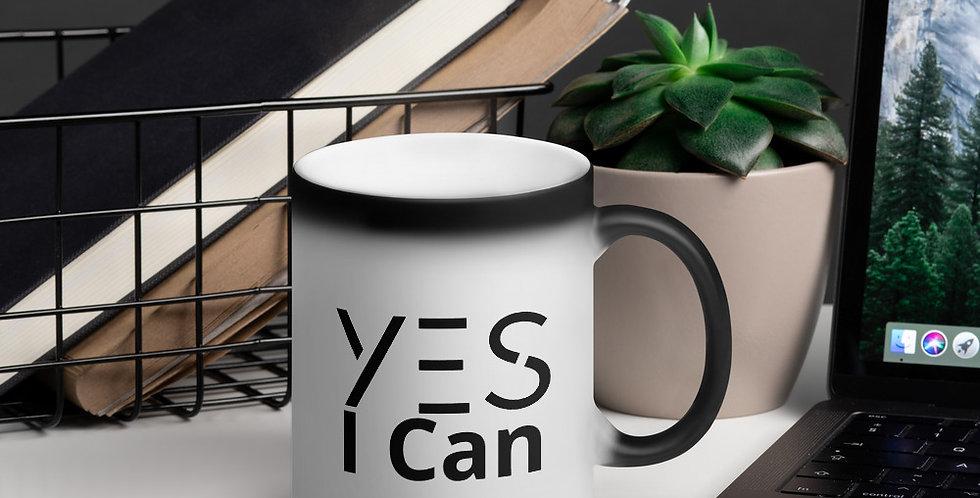 Mug mágico negro mate - Yes I Can