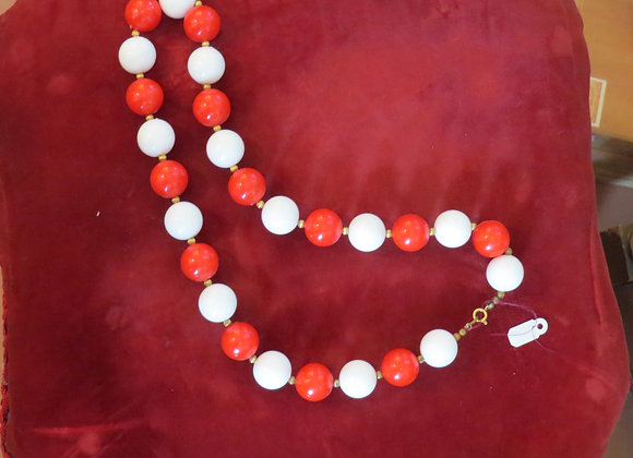 Red & White Necklace