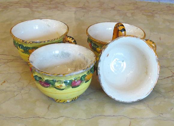 Yellow Italian Tea Cups