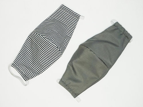 2 Pack - Grey & Stripes