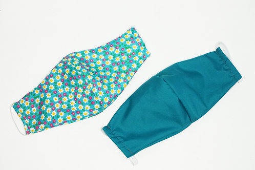 2 Pack - Floral & Aqua