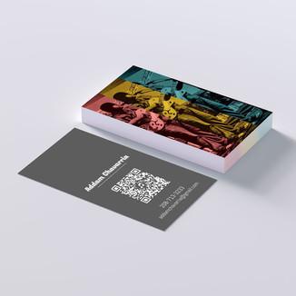 Addam Chavarria Business Card Design Mockup