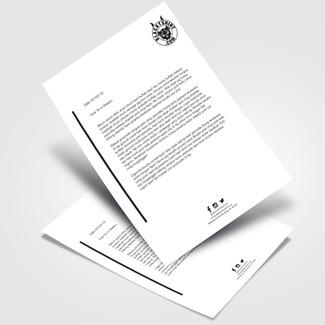 Blacktshirt.com Letterhead Design