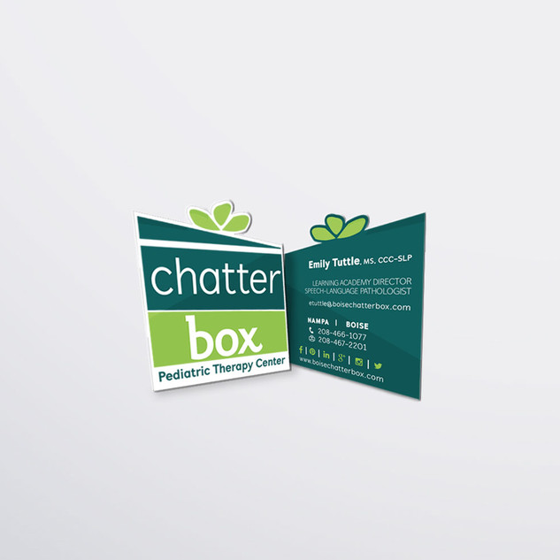Chatterbox Business Card Design Mockup