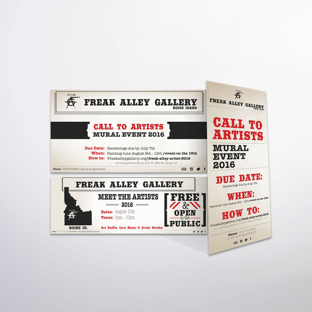 Freak Alley Gallery Call to Artist Promo