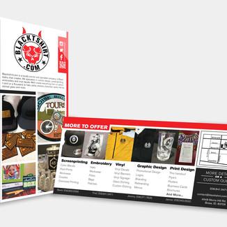 Blacktshirt.com Rack Card Design