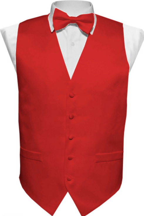 Vest Set Plain - WINE