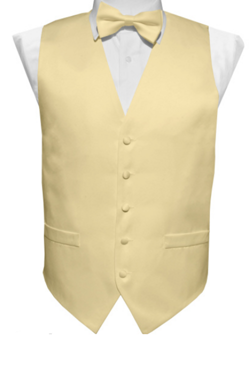 Vest Set Plain - BEIGE