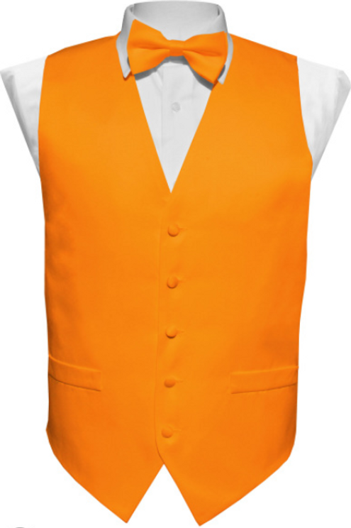 Vest Set Plain - ORANGE