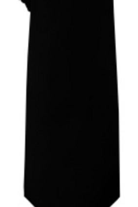 Solid Tie & Hanky - BLACK