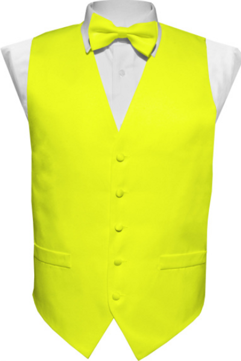 Vest Set Plain - LEMON
