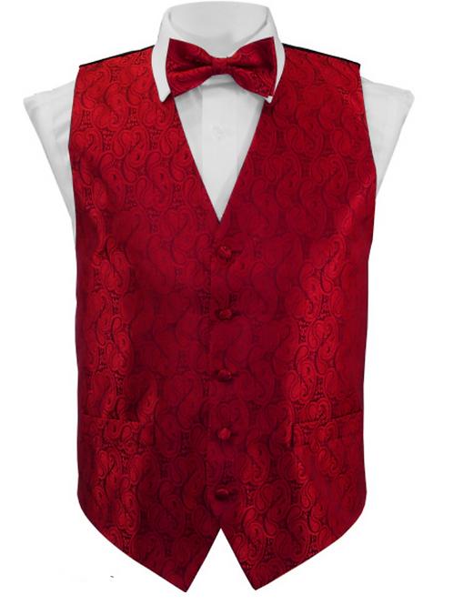 Vest Set Paisley - RED