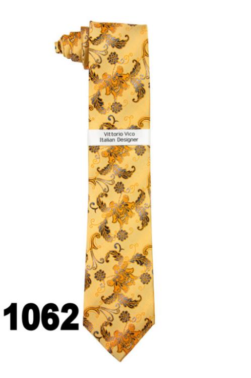 DESIGNER TIE & HANKY - 1062