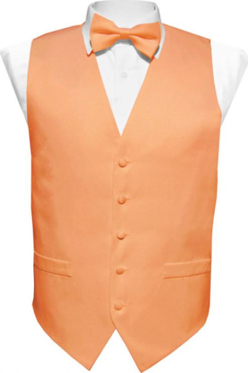Vest Set Plain - PEACH