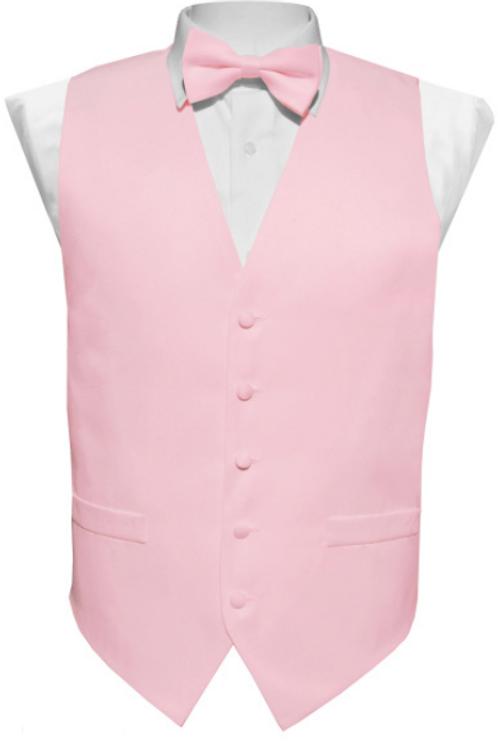 Vest Set Plain - PINK