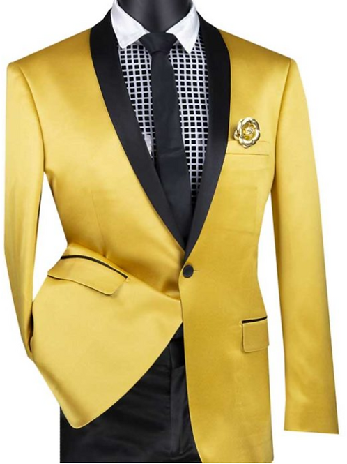 BST-1 Slim Fit Sport Coat with Narrow Shawl Lapel