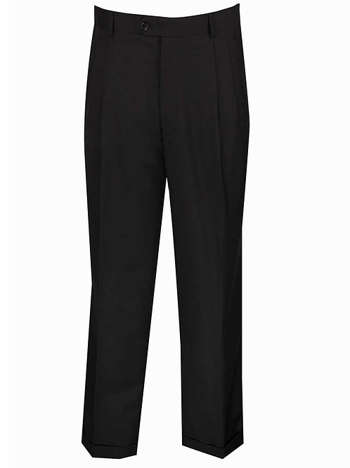 OP-900 Luxurious Wool Feel, Pre-hemmed Pleated Pants