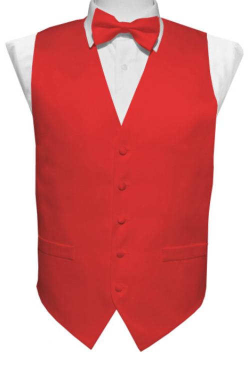 Vest Set Plain - RED