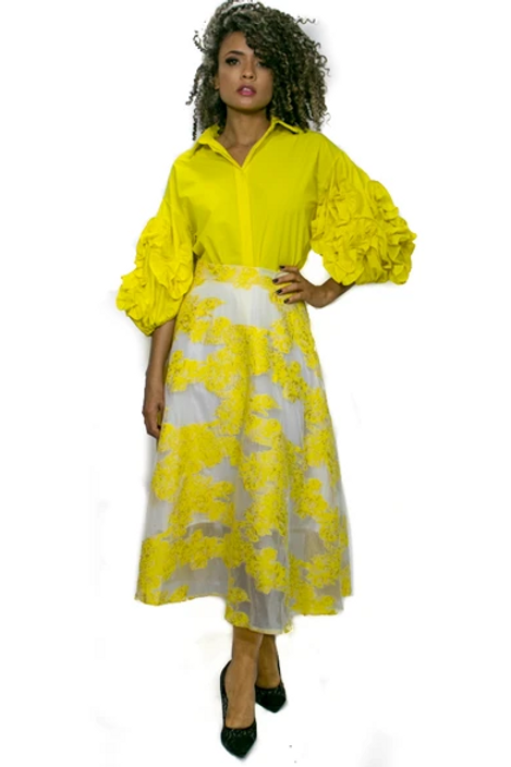C923 YELLOW SKIRT