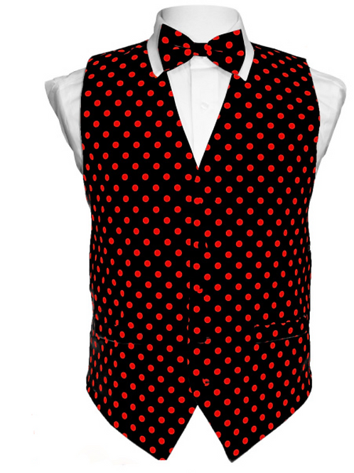 Vest Set Polka Dot - BLACK/RED