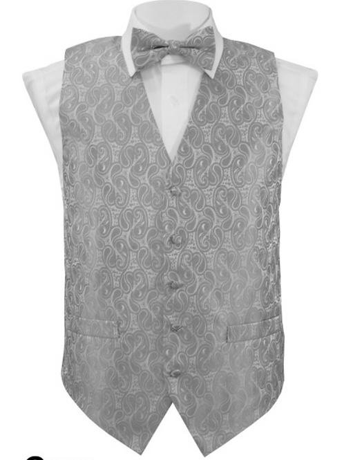 Vest Set Paisley - GRAY