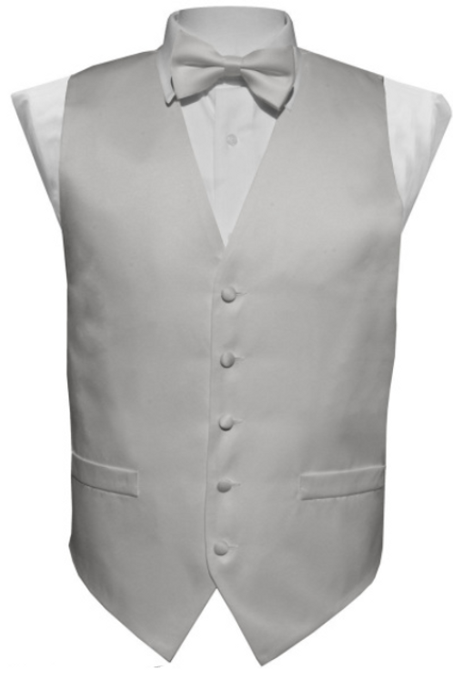 Vest Set Plain - SILVER GREY