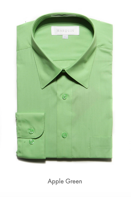 Marquis Solid Classic Fit Dress Shirt - APPLE GREEN