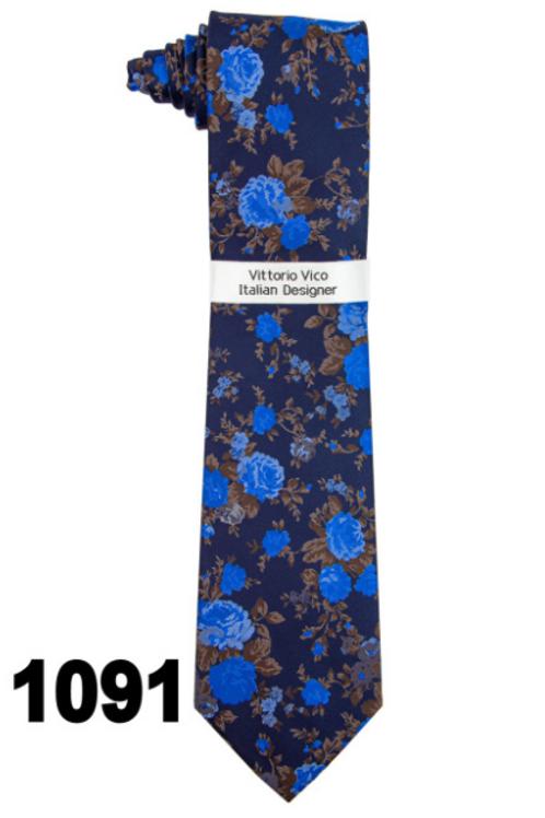 DESIGNER TIE & HANKY - 1091