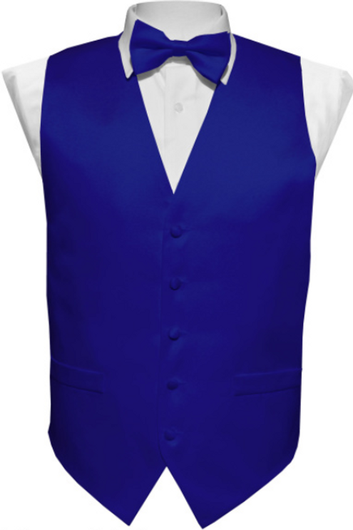 Vest Set Plain - ROYAL BLUE