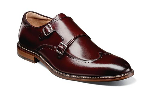 Stacy Adams - Fawell Wingtip Double Monk Strap