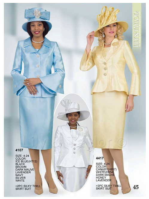 Lily & Taylor 3pc Novelty Skirt Suit #4107 and #4417